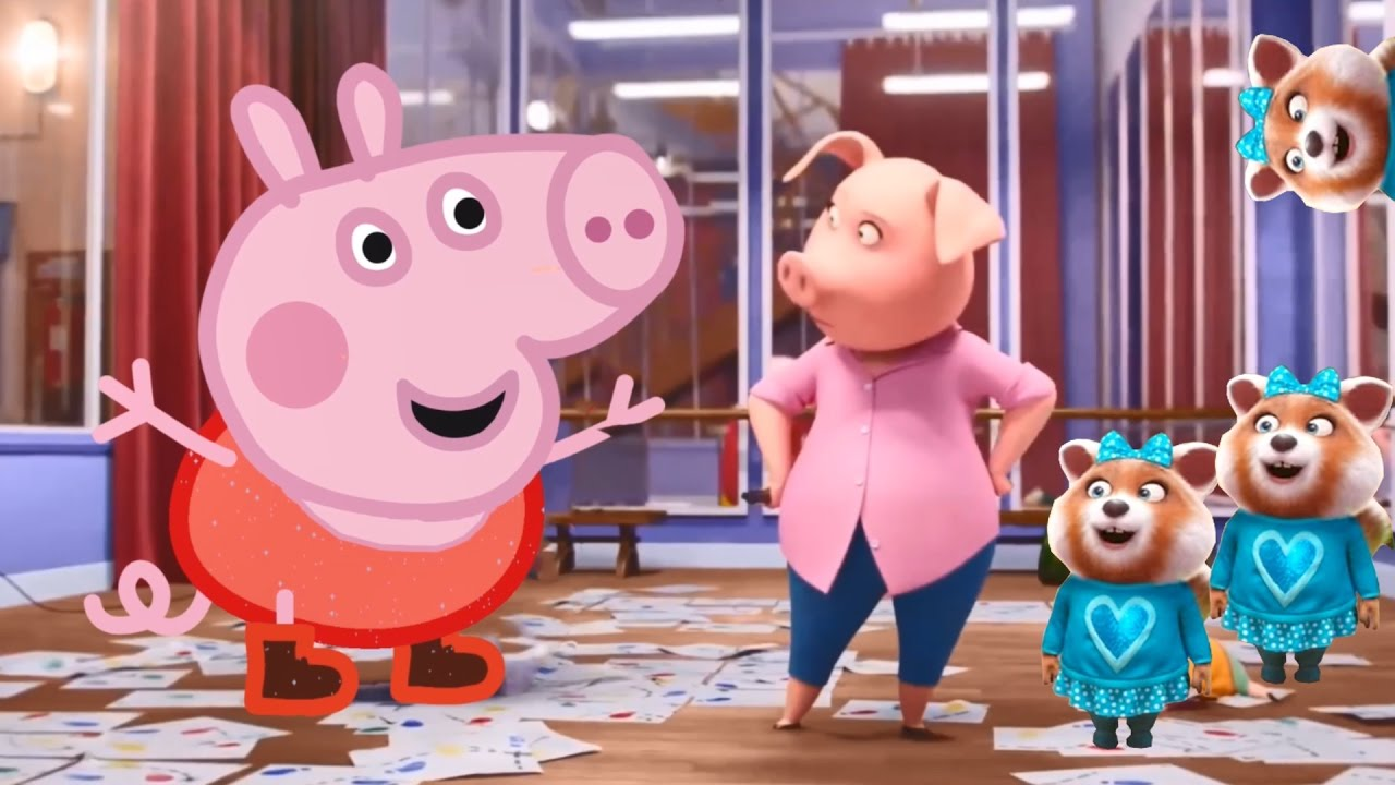 Sing Characters Gunter And Rosita Becomes Peppa Pig And George Foxy Color Sorting