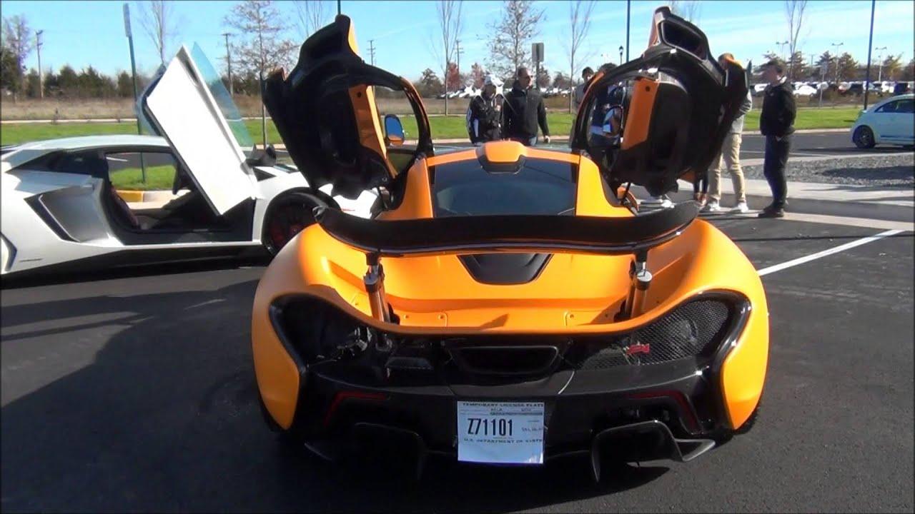 Mclaren P1 And Lamborghini Aventador Sv Youtube