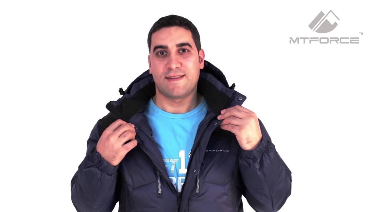b76c0842 Мужская зимняя спортивная куртка красного, синего, черного цвета 1624 от  MTFORCE