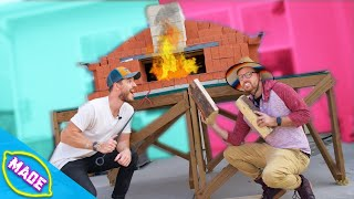We Made a GIANT Pizza Oven!