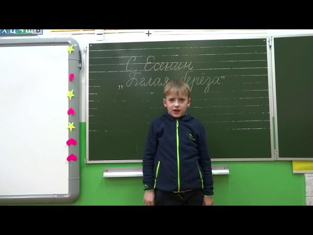 Изображение предпросмотра прочтения – СеменКолеватов читает произведение «Белая береза» С.А.Есенина