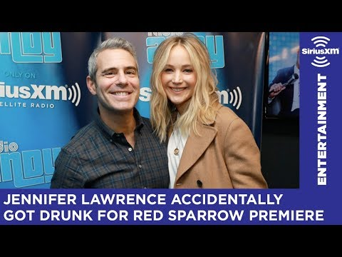 Jennifer Lawrence accidentally got drunk before Red Sparrow premiere // Radio Andy // SiriusXM