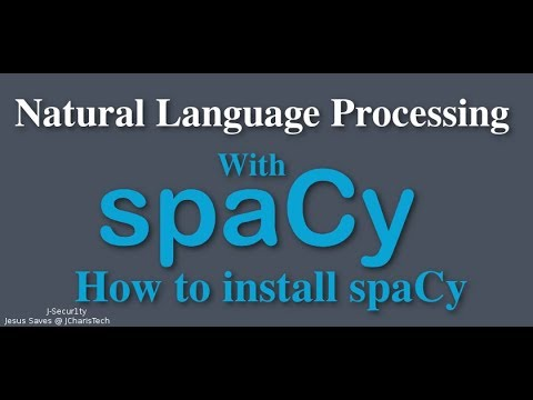 How to Install SpaCy on Windows(SpaCy NLP)