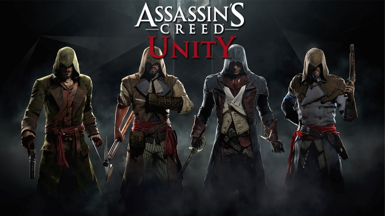 3d Unity Live Wallpaper Assassin S Creed Unity Co Op Split Screen Characters