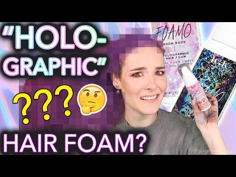 """Testing """"Holographic"""" hair foam (the results will not shock you at all)"""