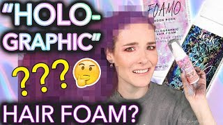 "Testing ""Holographic"" hair foam (the results will not shock you at all)"