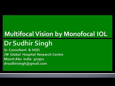 Multifocal Vision By Mono focal IOL with Intratunnel Phacofracture Video