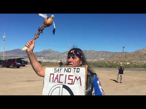 Border wall protest at Sunland Park