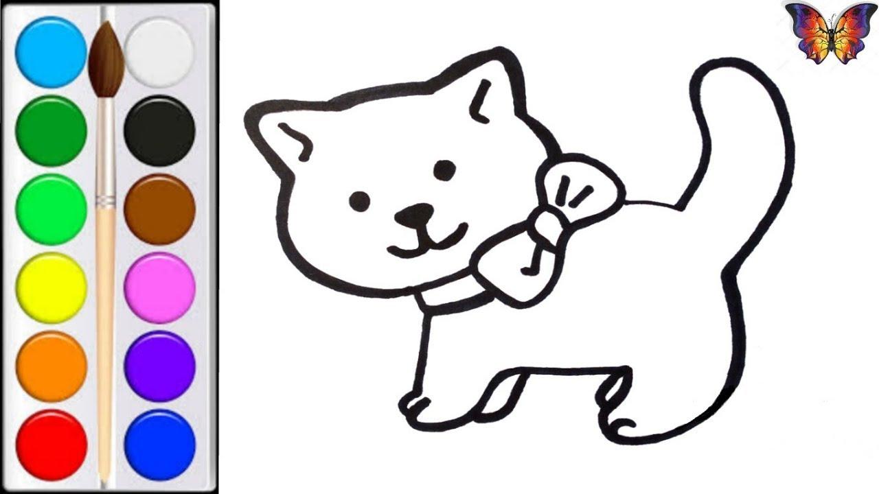 Как нарисовать КОШКУ / мультик раскраска КОШКА для детей ...