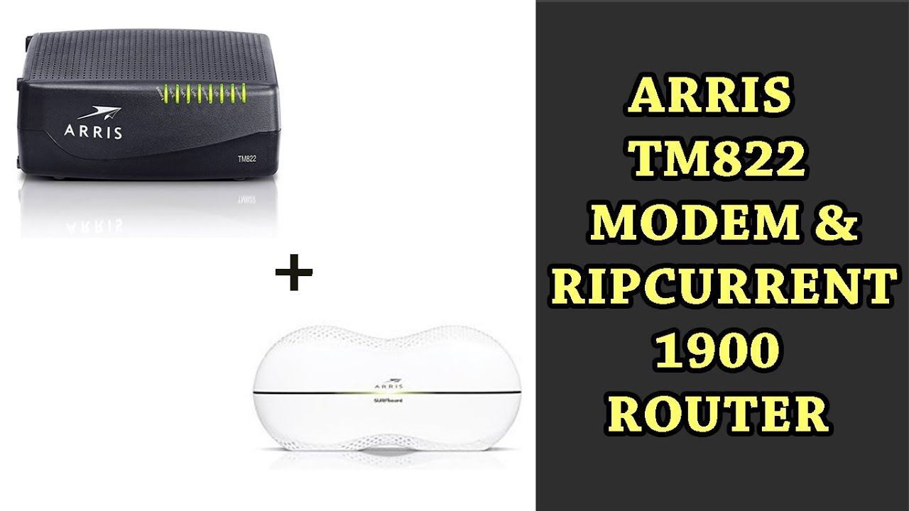 Comcast ARRIS Touchstone TM822G WiFi & Cable Modem and Router for XFINITY  Specs