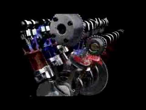 Ford EcoBoost gasoline turbo direct injection V-6 animation