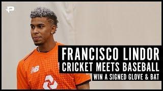 Cricket meets Baseball | WIN Francisco Lindor signed glove and bat!!