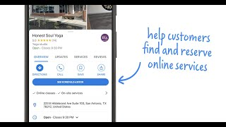 How can I help customers find & reserve my online services directly from Google? | Quick Help