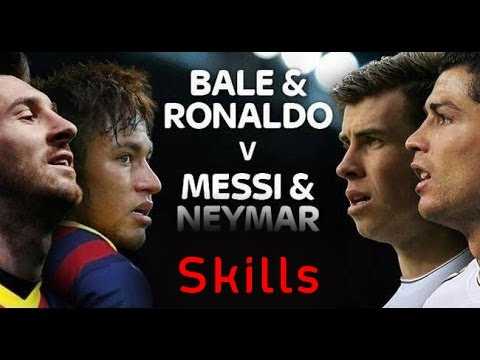 Lionel Messi & Neymar Jr vs Cristiano Ronaldo & Gareth ...  Neymar
