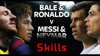 Lionel Messi & Neymar Jr vs Cristiano Ronaldo & Gareth Bale | Skills Show Battle | 2015 HD