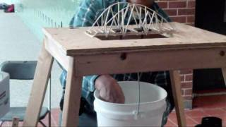 Held at Princeton Day School (January 2010). The physics classes had to make a bridge out of balsa wood and glue only. I only