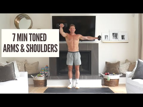 TONE YOUR ARMS AND SHOULDERS AT HOME *7 MINUTE SHOULDER and ARMS WORKOUT*