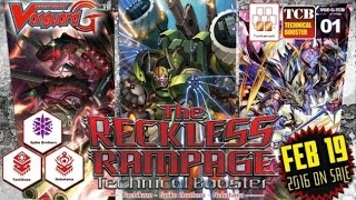 The Reckless Rampage Technical Booster Opening with Team Stand and Draw