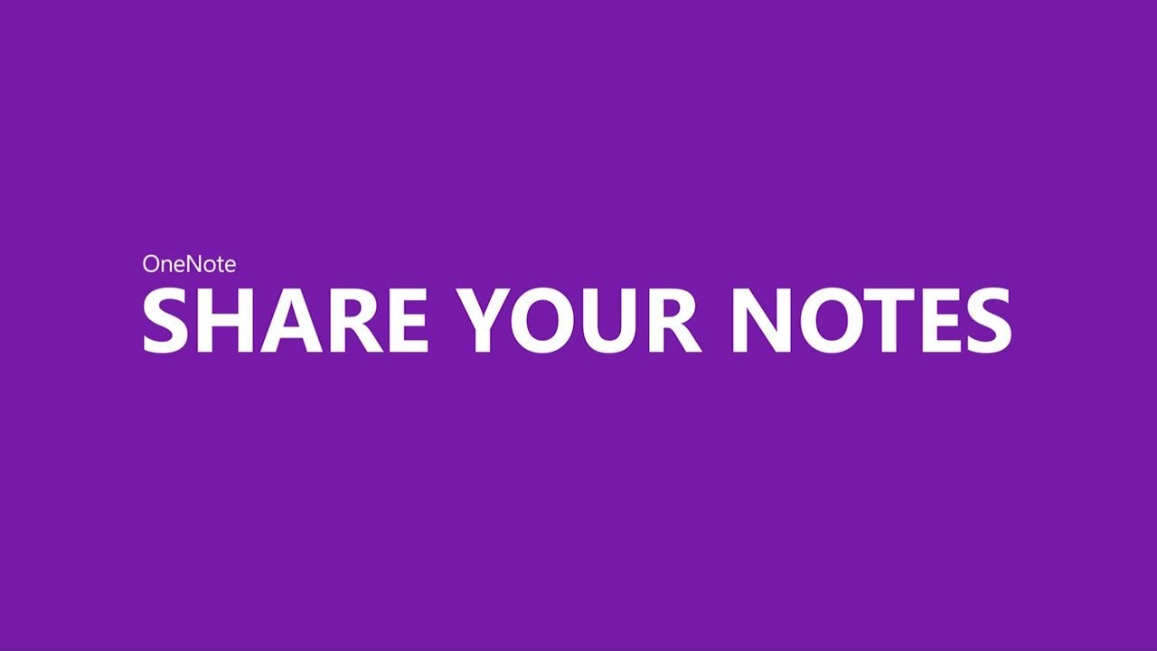 Share your notes with OneNote