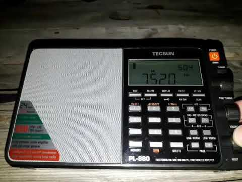 Tecsun PL-880 Radio Denge Kurdistan 7520 Khz desde Tunuyán, Mendoza (ARG)