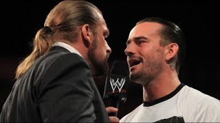 Raw - Punk and Triple H exchange words before Night of Champions
