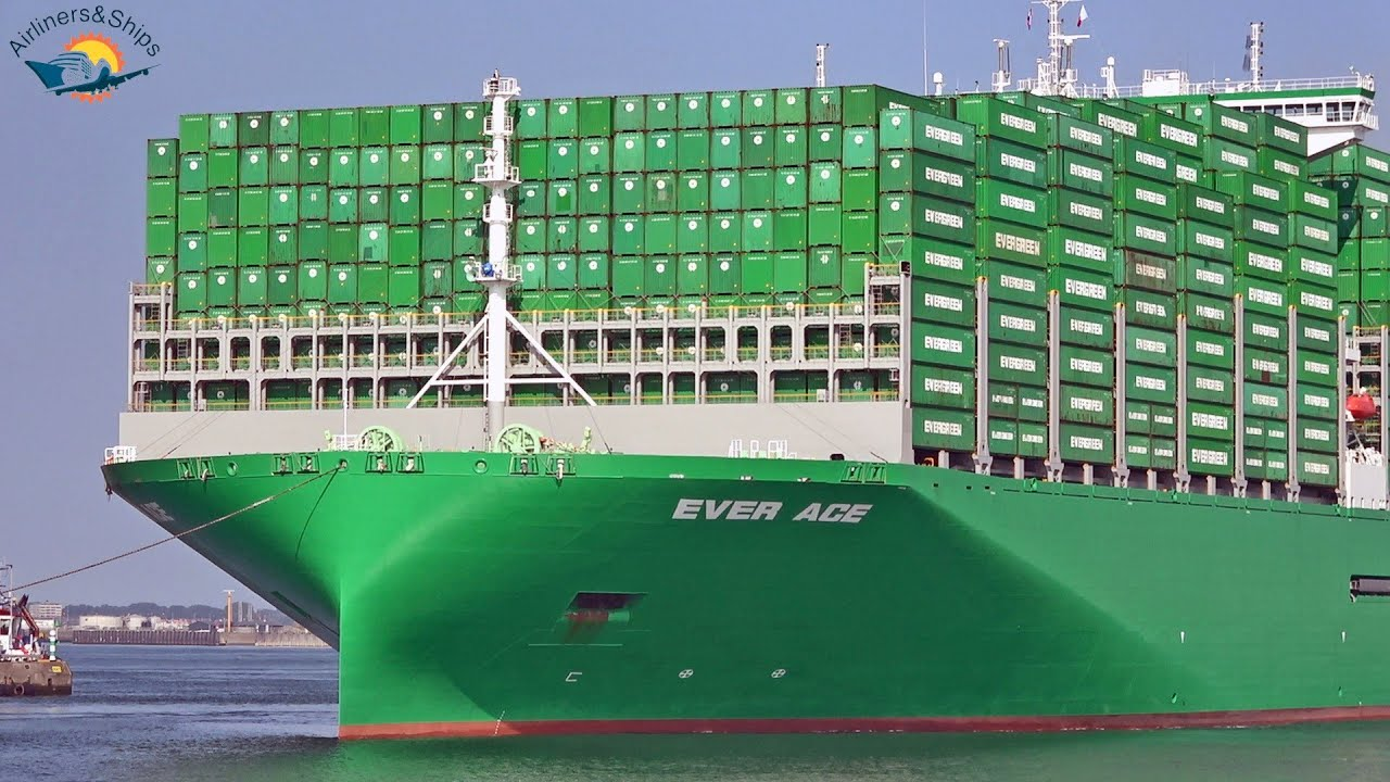 Download BIGGEST CONTAINER SHIP EVER ACE Maiden call at ROTTERDAM Port - Shipspotting September 2021