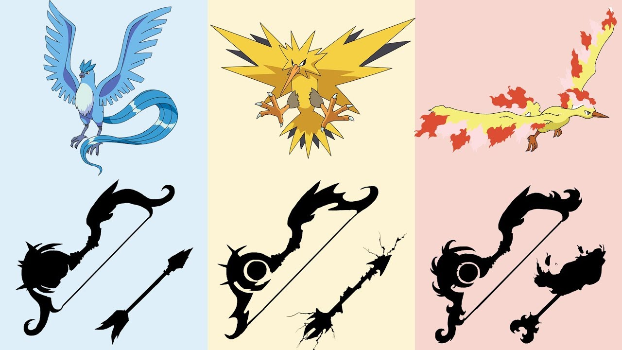 Mega Legendary Birds Pokemon as Weapons Req...