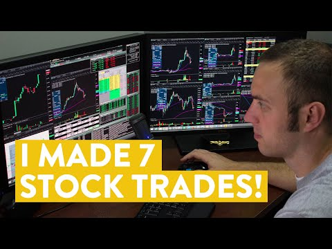 [LIVE] Day Trading | I Made 7 Stock Trades! (but did i make money?)
