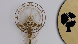 Zentira - Holzuhr (wooden Clock)