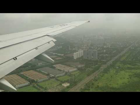 Landing in Mumbai on a cloudy day