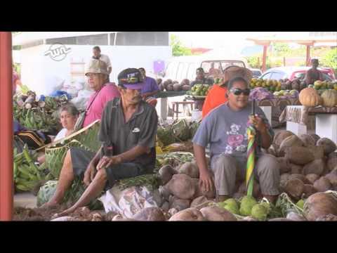 Ronnie in Samoa- Market