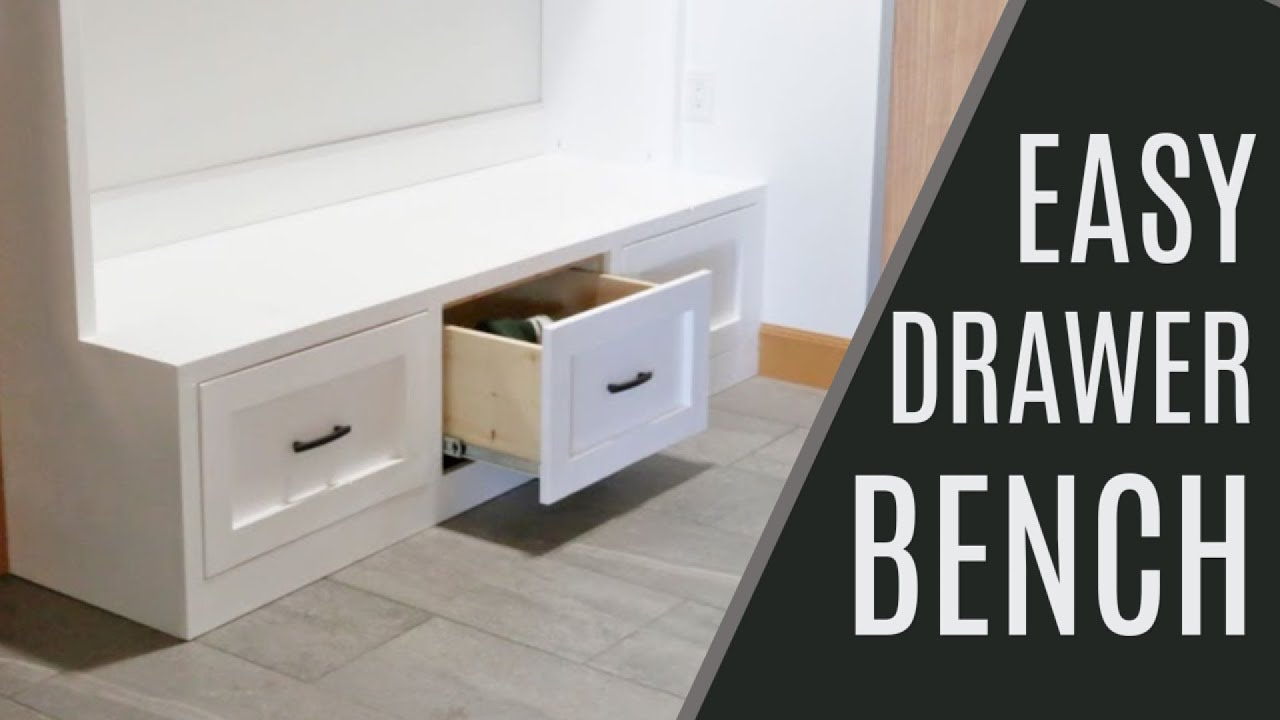 Diy Easiest 2x4 Drawer Bench