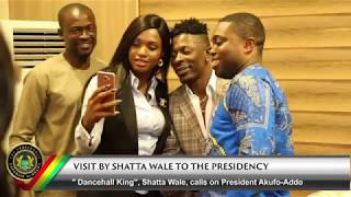 Dancehall King Shatta Wale Visits the Presidency of Ghana