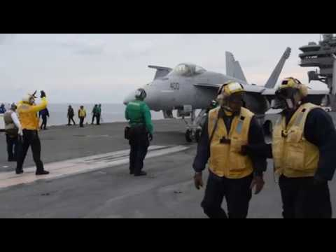 Flight Ops Aboard USS Ronald Reagan