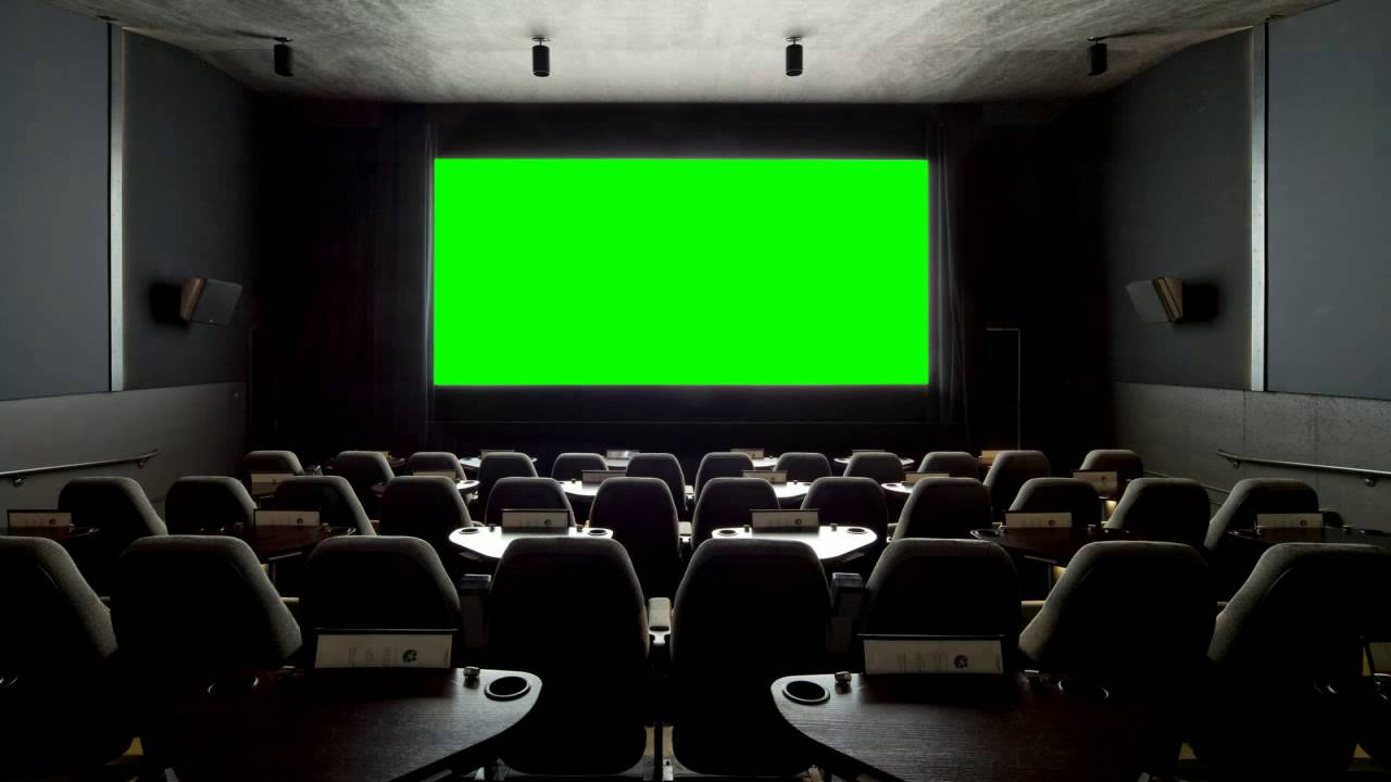 Personal Cinema Hall In Green Screen Free Stock Footage Youtube