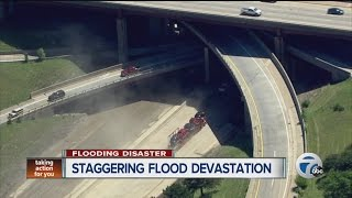 Staggering flood devastation