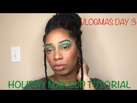 HOLIDAY MAKEUP TUTORIAL FT CRAYON CASE | VLOGMAS DAY 3 thumbnail