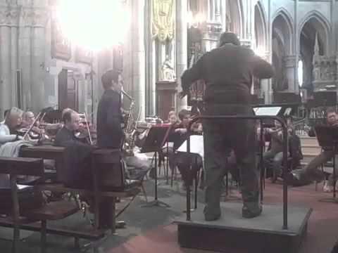 Richard DUCROS 1st rehearsal of Glazunov concerto, John NESCHLING conducting
