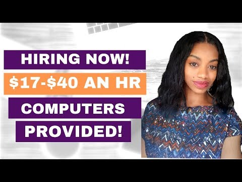 HIRING NOW. $17-$40 An Hr. Computers Provided (MAC, Apple). Work Anywhere!