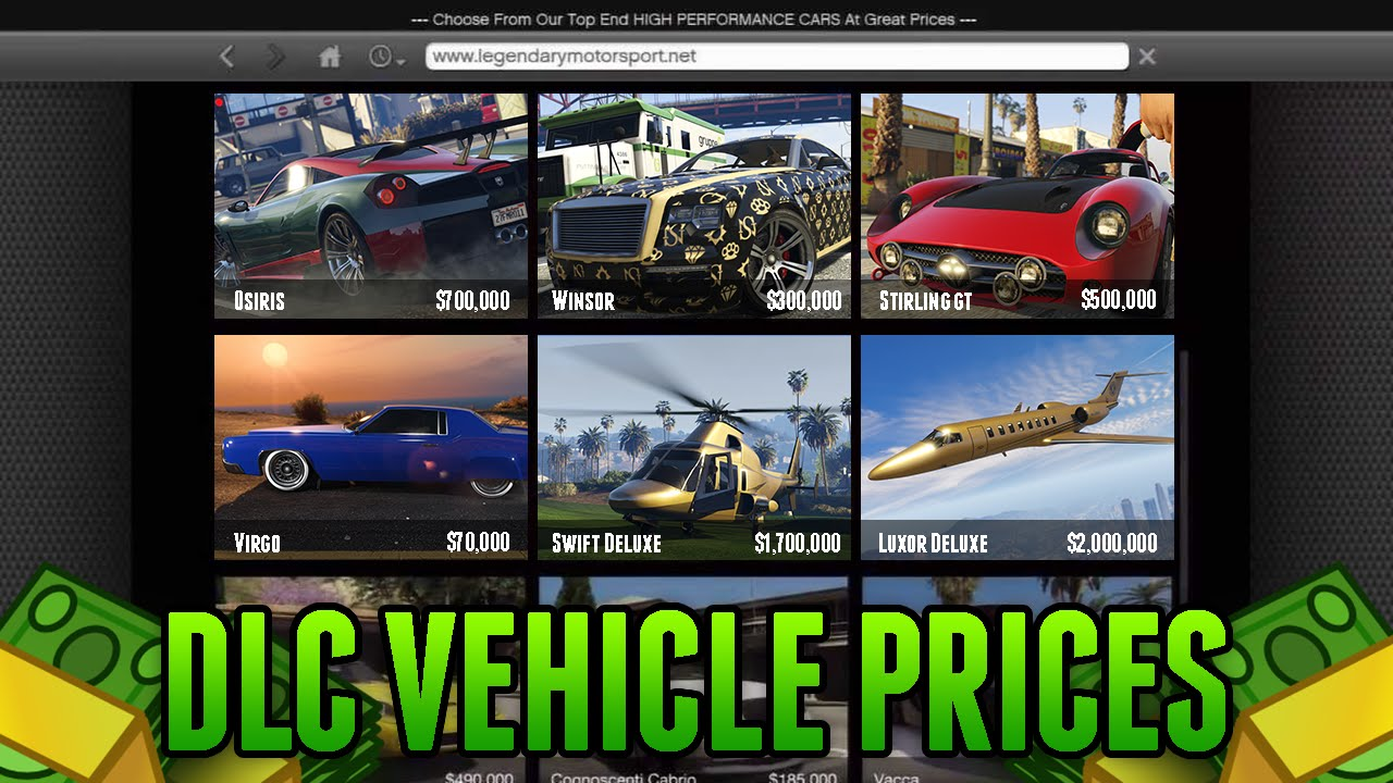 Gta New Car Prices