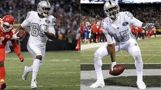 Amari Cooper & Michael Crabtree Highlights vs Chiefs 2017 wk 7 - Back in Business!