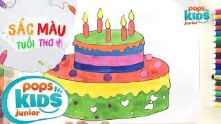 Sắc Màu Tuổi Thơ - Tập 42 - Bé Tập Vẽ Bánh Kem Sinh Nhật | How To Draw Birthday's Cake