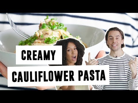 Creamy Cauliflower Pasta   #InTheKitchen   SO VEGAN