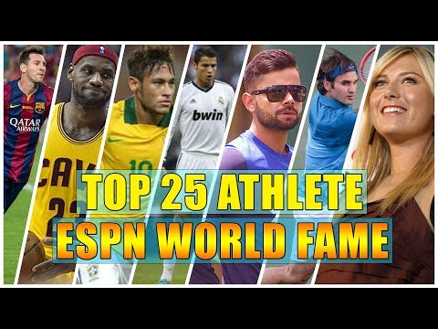 Top 25 Most Famous Athletes In The World | ESPN World Fame Ranking