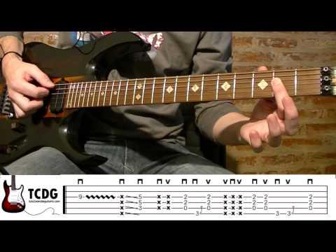 COMO TOCAR WE WILL ROCK YOU (QUEEN) EN GUITARRA (PARTE 1) acordes notas la cuerda tablaturas TCDG