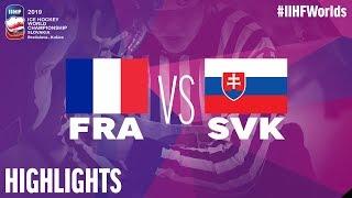 France vs Slovakia - Game Highlights - #IIHFWorlds 2019