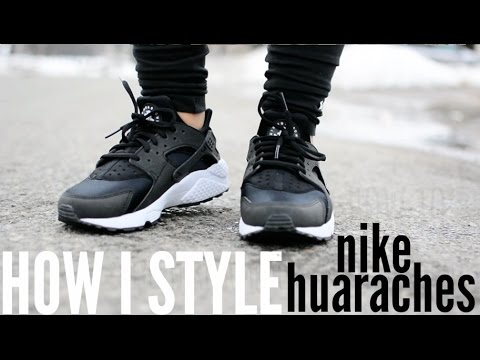 12c797c1ebd45 How I Style Nike Huaraches + 2 OUTFITS - YouTube