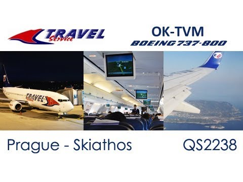 Flight from Prague to Skiathos | Travel Service Boeing 737-800 OK-TVM (Trip Report)