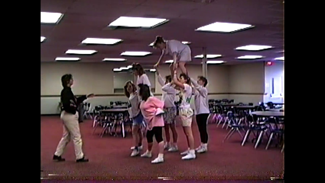 NCCS JV Cheerleading Practice  March, 1989