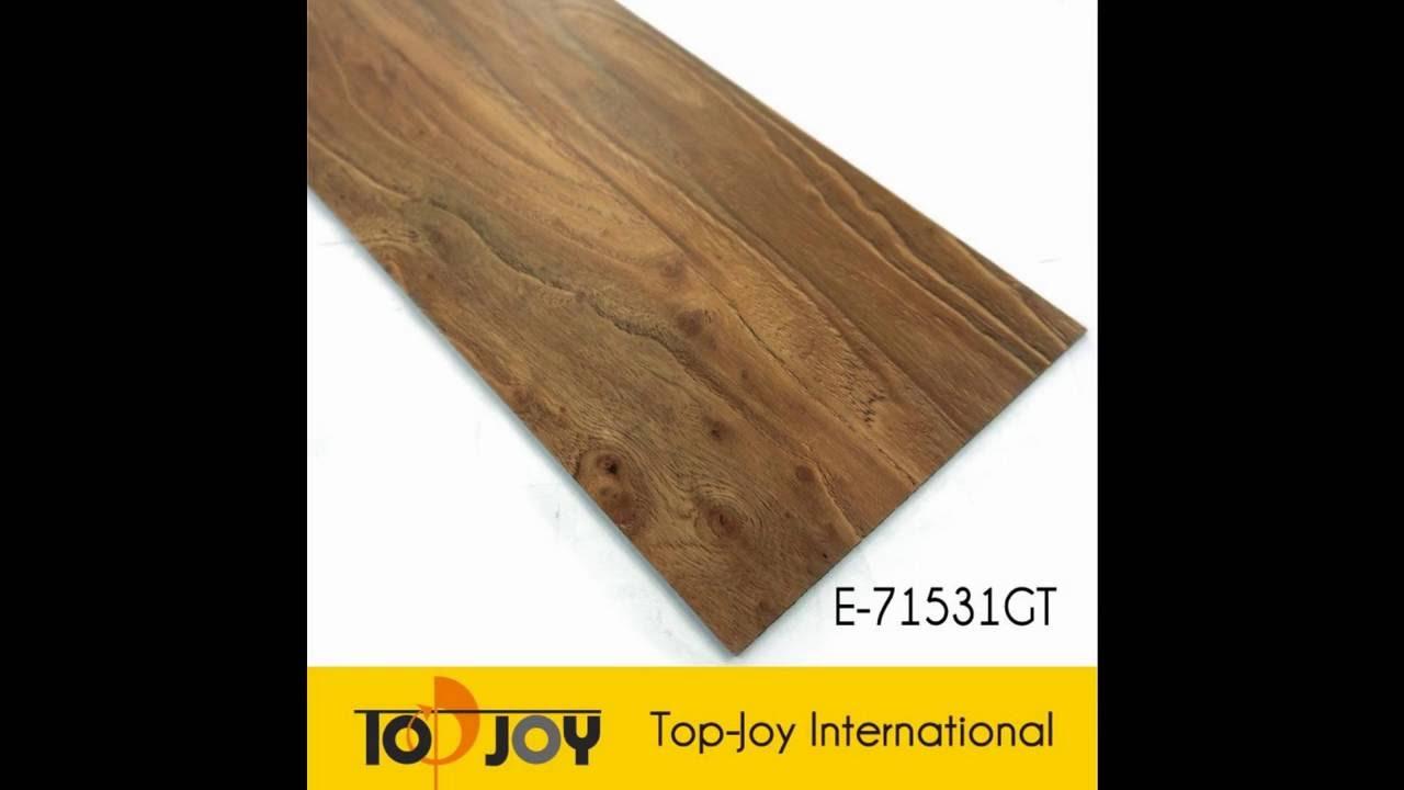 Dry Back PVC Vinyl Plastic Wood Flooring Tiles Manufacturer